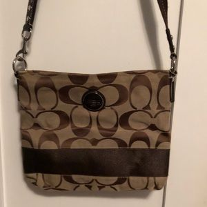 Large coach crossbody messenger bag